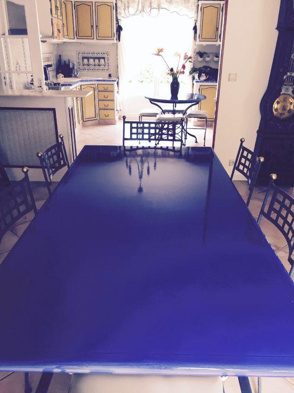 Table En Pierre De Lave 233 Maill 233 E Couleur Bleu De Castres 224
