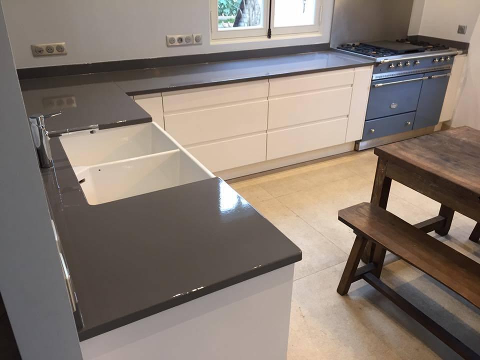 plan de travail en pierre de lave maill e paris par l. Black Bedroom Furniture Sets. Home Design Ideas
