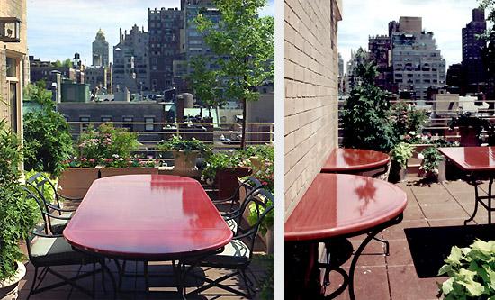 table en forme plein cintre en pierre de lave maill e couleur garance new york pierre richard. Black Bedroom Furniture Sets. Home Design Ideas