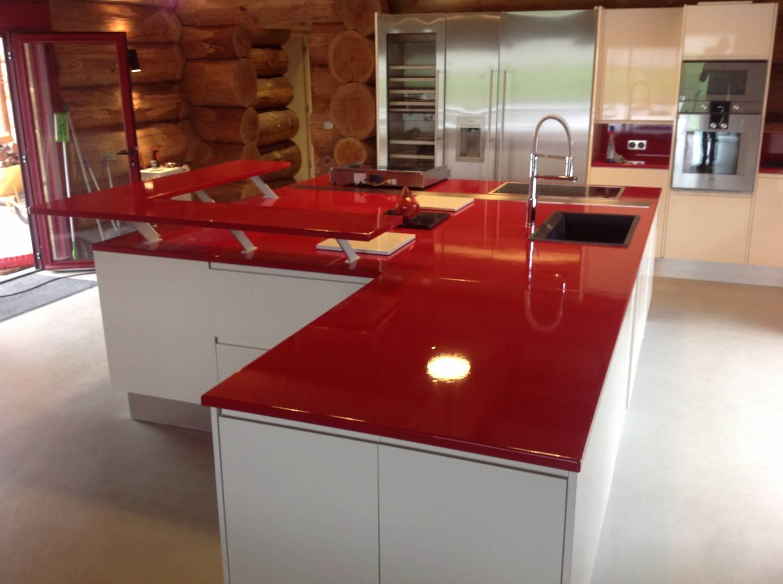 Plan De Travail En Lave Emaillee Couleur Rouge A Tours Fabricant